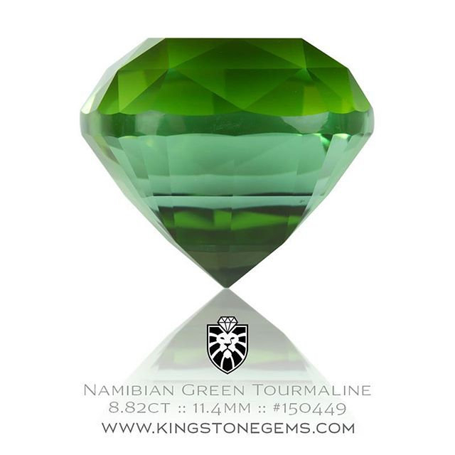 An exceptionally fine Namibian green tourmaline precision cut and polished in an beautiful square cushion design. A superb gemstone weighing 8.82ct, 11.4x11.1x9.74mm and is eye clean. This gem is currently available. Inspect the gem and many other remarkable gems on our website.  http://www.kingstonegems.com/fine-loose-coloured-gemstones/namibian-green-tourmaline-square-cushion-150449/  WWW.KINGSTONEGEMS.COM  SYDNEY CBD AUSTRALIA - Precision Gemcutting and Lapidary Services Located In Sydney Australia