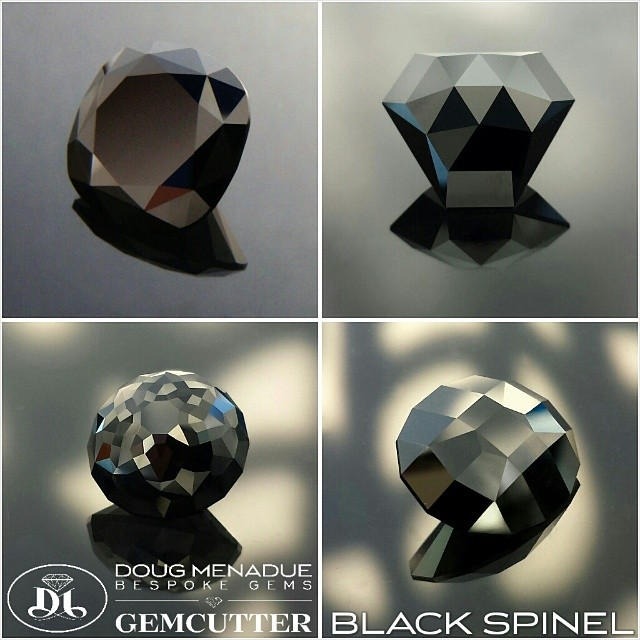 BLACK SPINEL :: The black gemstone of choice!  WWW.BESPOKE-GEMS.COM - Precision Gemcutting and Lapidary Services Located In Sydney Australia