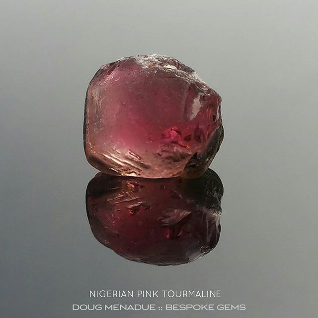 Delicious pink tourmaline from Nigeria that should cut a stunning gemstone around 8mm. Contact me if you would like me to facet a unique gem just for you.  DOUG MENADUE  WWW.BESPOKE-GEMS.COM  SYDNEY CBD AUSTRALIA - Precision Gemcutting and Lapidary Services Located In Sydney Australia