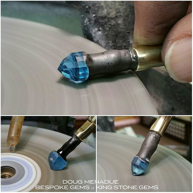 Electric blue baby! Com'n along nicely. :-) WWW.BESPOKE-GEMS.COM  WWW.KINGSTONEGEMS.COM - Precision Gemcutting and Lapidary Services Located In Sydney Australia