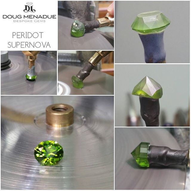 Finished an Australian peridot for a client. This is a beautiful peridot that he dug himself, the colour is fabulous and easily rivals the best Pakistan material. It was a pleasure to cut. Finished in one of my favorite ovals,  the Supernova at 3.43 carats from 10.7 carats rough.  DOUG MENADUE  WWW.BESPOKE-GEMS.COM  SYDNEY CBD AUSTRALIA - Precision Gemcutting and Lapidary Services Located In Sydney Australia