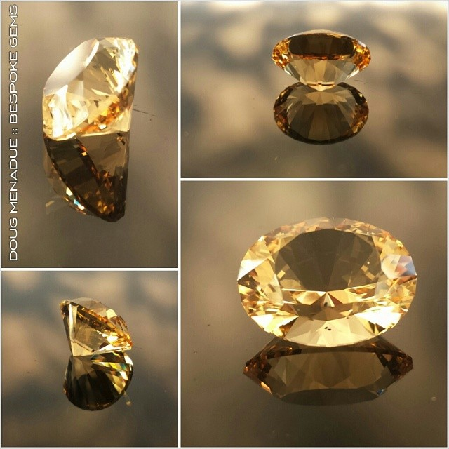 Golden Sapphire? Nope just a beautiful piece of citrine. :-) WWW.BESPOKE-GEMS.COM - Precision Gemcutting and Lapidary Services Located In Sydney Australia