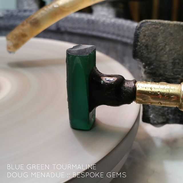 Gotta cut a big long stepped oval 25x10 from this ripper piece of blue green tourmaline.    WWW.BESPOKE-GEMS.COM   - Precision Gemcutting and Lapidary Services Located In Sydney Australia