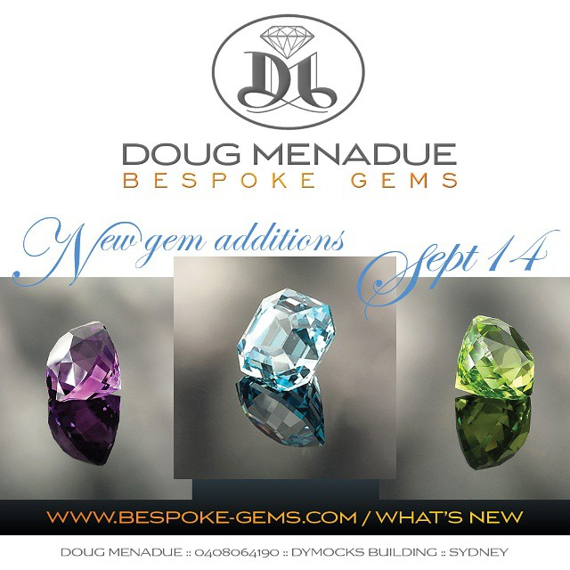 Hi folks,  Just wanted to let you all know that I have just listed some exciting new gems on my website.  Head to my website and check out the WHAT'S NEW page :  http://www.bespoke-gems.com/whats-new.php  Cheers and thanks,  Doug.... WWW.BESPOKE-GEMS.COM - Precision Gemcutting and Lapidary Services Located In Sydney Australia