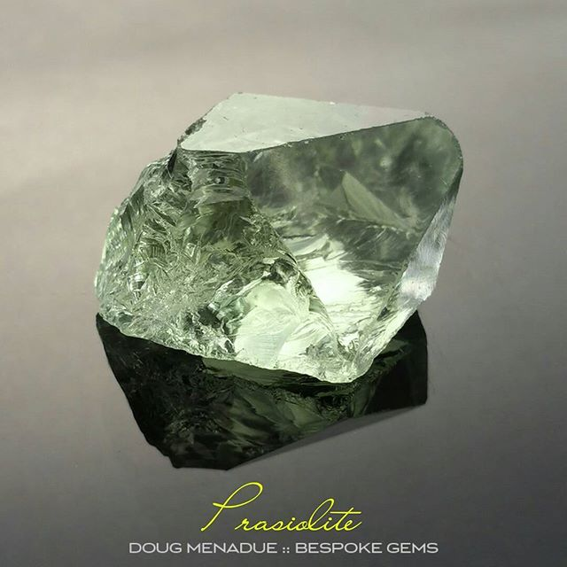 I've got a couple of lovely big pieces of prasiolite in stock that will cut something spectacular. Beautiful colour. Contact me of your interested in having a bespoke gem cut just for you.  DOUG MENADUE  WWW.BESPOKE-GEMS.COM  SYDNEY CBD AUSTRALIA - Precision Gemcutting and Lapidary Services Located In Sydney Australia