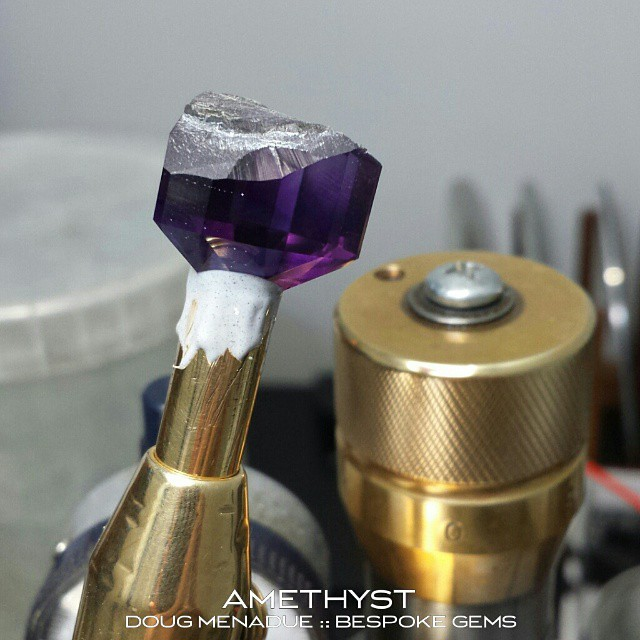 Ok, back in the office today and time to finish off this monster amethyst. Hope you folks have all got your guesses in by now.  WWW.BESPOKE-GEMS.COM - Precision Gemcutting and Lapidary Services Located In Sydney Australia