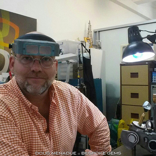 Shameless selfie. :-) WWW.BESPOKE-GEMS.COM - Precision Gemcutting and Lapidary Services Located In Sydney Australia