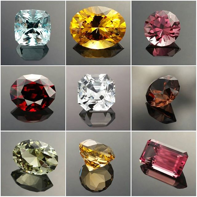 Some recent bespoke gems... lovely splash of colours.  DOUG MENADUE WWW.BESPOKE-GEMS.COM  SYDNEY CBD AUSTRALIA - Precision Gemcutting and Lapidary Services Located In Sydney Australia