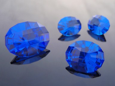 Suite of Synthetic Cobolt Blue Spinel, #suite6