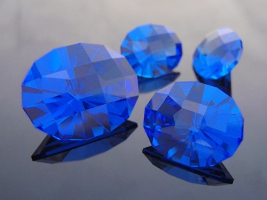 Suite of Birdie Synthetic Cobolt Blue Spinel, #suite6