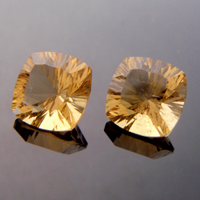 Golden Citrine, Concave Square Cushion Cut, Brazil, #c27