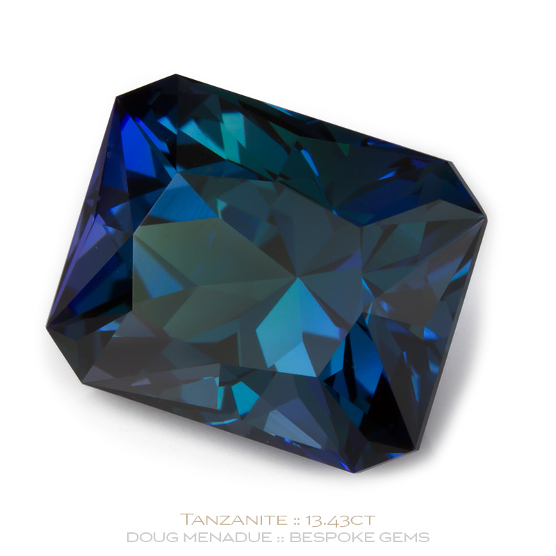 tanzanite three platinum ring in gemstone and stone diamond trillion