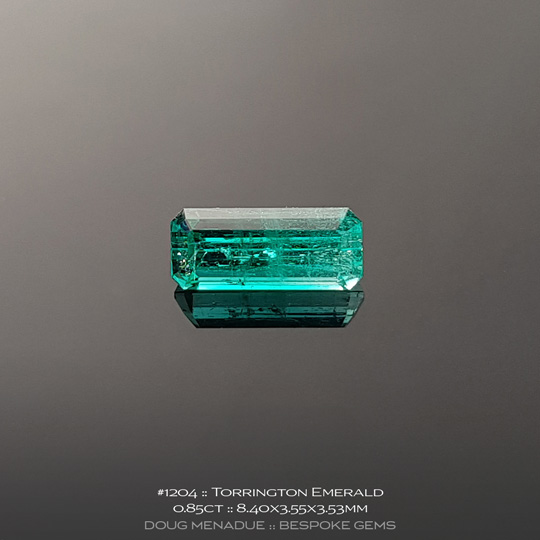 1204, Emerald Banded Green and Clear, Emerald Cut, 0.85 Carats, 8.40X3.55X3.53mm - A beautiful natural Emerald from the gemfields around Torrington, NSW, Australia - Doug Menadue :: Bespoke Gems :: WWW.BESPOKE-GEMS.COM - Finest Quality Precision Custom Gemcutting and Lapidary Services Based In Sydney Australia