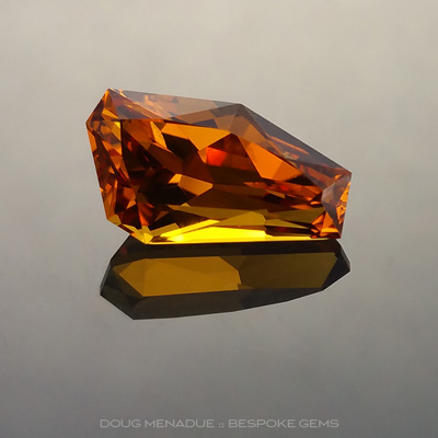 Orange Sapphire, Freeform, Glenalva, Rubyvale, Central Queensland, Australia, 3.92 Carats, 12.34X6.86X5.88mm, #12112-4, A beautiful natural Orange Sapphire from the Australian sapphire gemfields. Doug Menadue :: Bespoke Gems :: WWW.BESPOKE-GEMS.COM - Finest Precision Custom Gemcutting Based In Sydney Australia