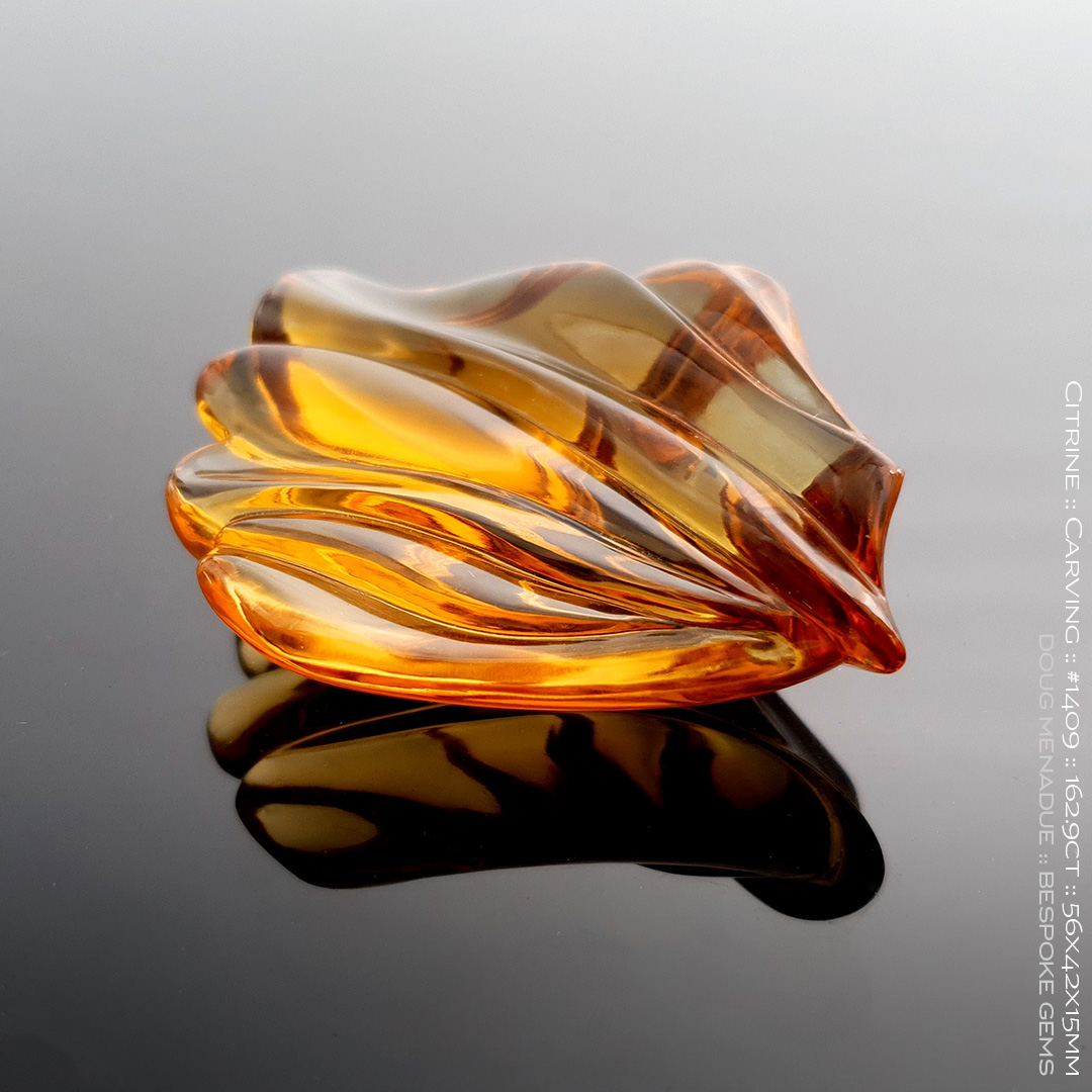 #1409, Golden Honey Citrine, Carving, 162.9 Carats, 13.16X13.11X10.41mm - Doug Menadue :: Bespoke Gems - WWW.BESPOKE-GEMS.COM - Precision Gemcutting and Lapidary Services In Sydney Australia