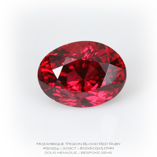 #150254, Pigeon Blood Red Mozambique, Oval, 2.03 Carats, 13.16X13.11X10.41mm - A beautiful natural Mozambique Mozambique - Doug Menadue :: Bespoke Gems - WWW.BESPOKE-GEMS.COM - Precision Gemcutting and Lapidary Services In Sydney Australia