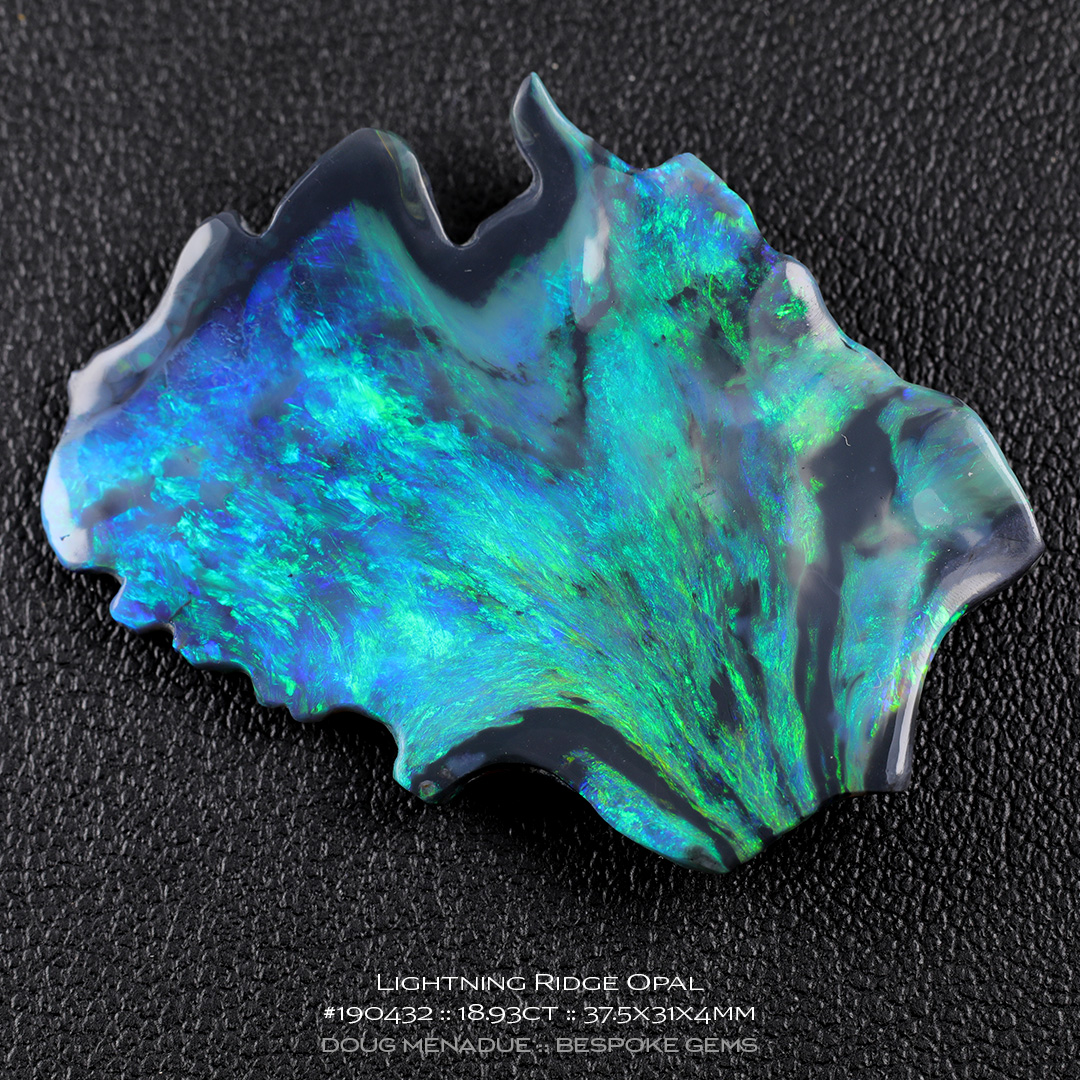 #190432, Blue Green Opal, Freeform, 18.93 Carats, 13.16X13.11X10.41mm - Doug Menadue :: Bespoke Gems - WWW.BESPOKE-GEMS.COM - Precision Gemcutting and Lapidary Services In Sydney Australia