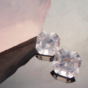 Rose Quartz, Asscher, Madagascar?, #444
