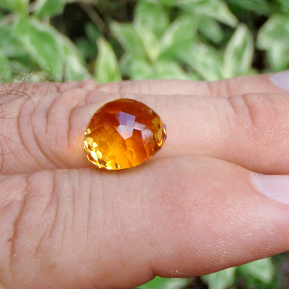 Flame Orange Citrine, Asscher Cut, Brazil, #521