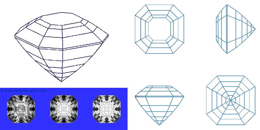 Bespoke Gems - Square Gem Designs - Asscher Cut