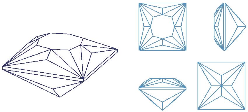 Bespoke Gems - Square Gem Designs