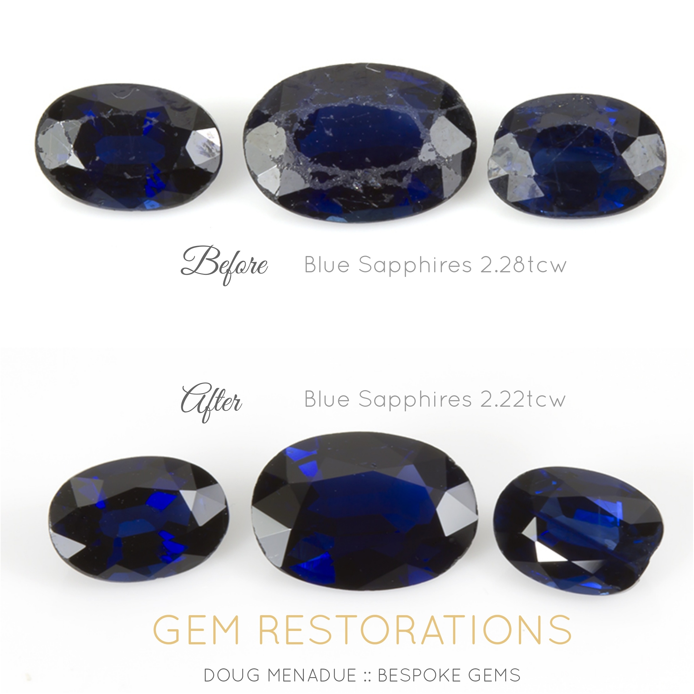 ct sapphire above gemstones bright blue