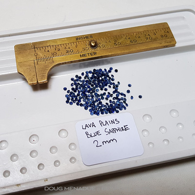 #p4, Lava Plains Blue Sapphire, Rounds, 9.34 Carats,   Blue - Lava Plains Blue Sapphire from Lava Plains, North Queensland, Australia - Doug Menadue :: Bespoke Gems :: WWW.BESPOKE-GEMS.COM - Finest Quality Precision parcels Gemcutting and Lapidary Services Based In Sydney Australia