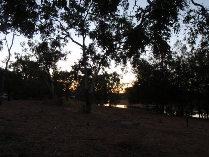 Sunset at O'Briens Creek Campground