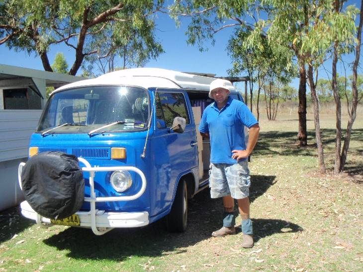 The mighty blue kombi